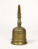 Gilt-bronze Bell with Sacred Gem, Gilt-bronze Single Pronged Vajra Bell and Gilt-bronze Three-pronged Vajra Bell (three of a set of five)