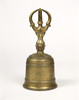 Gilt-bronze Three-pronged Vajra Bell