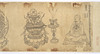 Iconographic Drawings of the Deities of the Womb World Mandala (J., Taizō Zuzō), Scroll 1