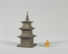 Stupa-shaped Silver Reliquary and Gold Inner Container