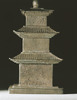 Stupa-shaped Silver Reliquary(one of a set of Stupa-shaped Silver Reliquary and Gold Inner Container)